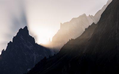 Luce e ombra alla Cresta del Peuterey