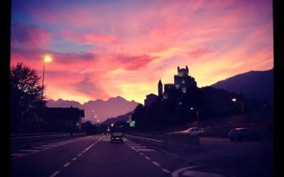 Un tramonto tinto di rosa