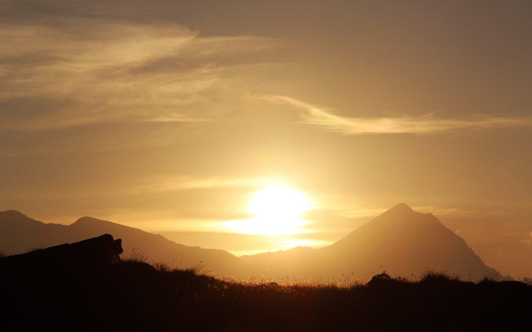 Il sole dell'alba ci toglie pian piano dall'ombra