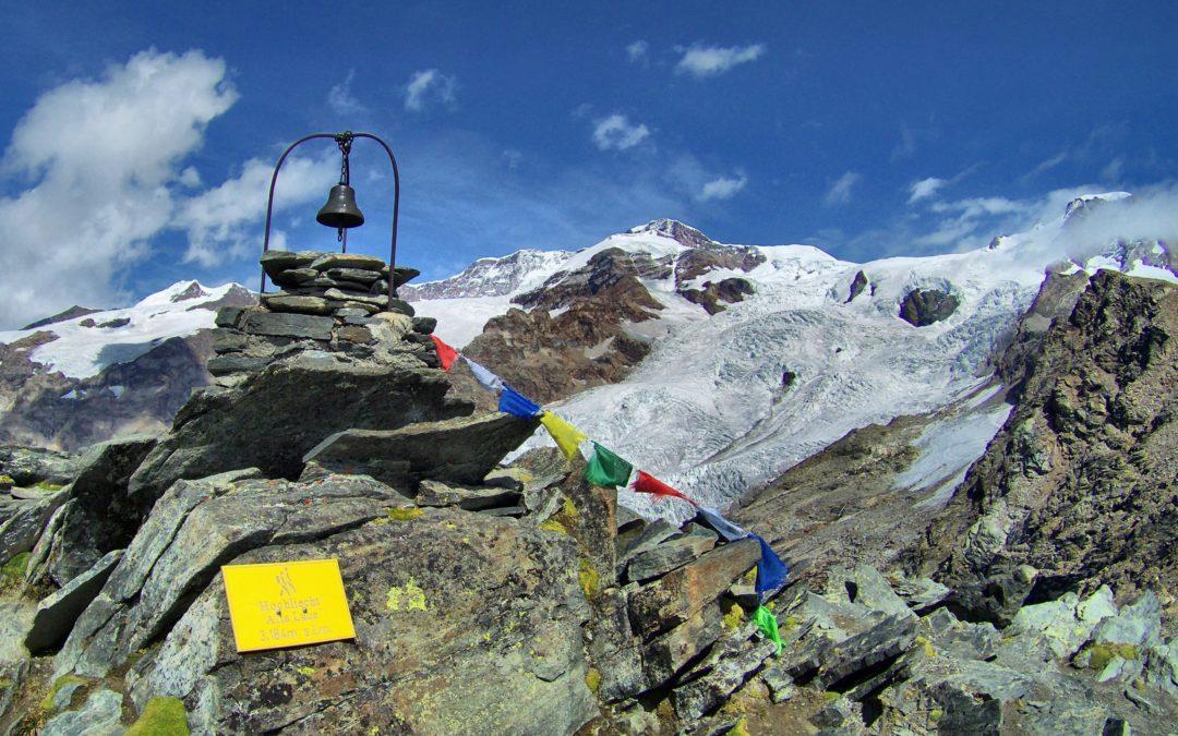 I ghiacciai del Rosa dalla cima dell'Hochlicht.