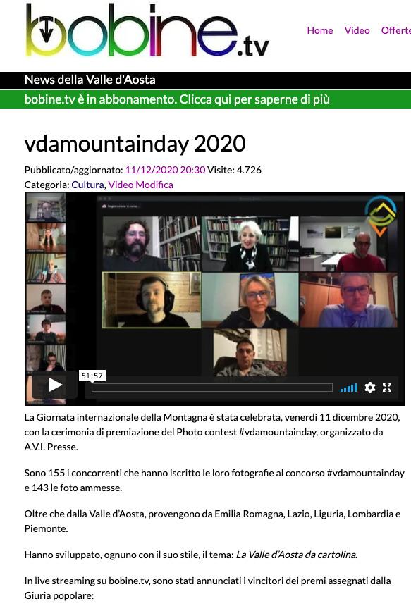 bobine.tv 31 ottobre 2020